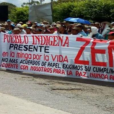 Indígenas y Campesinos de la Minga denunciaron violación de sus derechos humanos