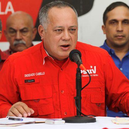 Diosdado Cabello convoca a concentración en Miraflores