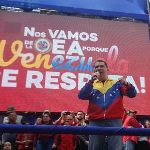 Gran movilización de las fuerzas revolucionarias en todo el país celebró retiro de la OEA