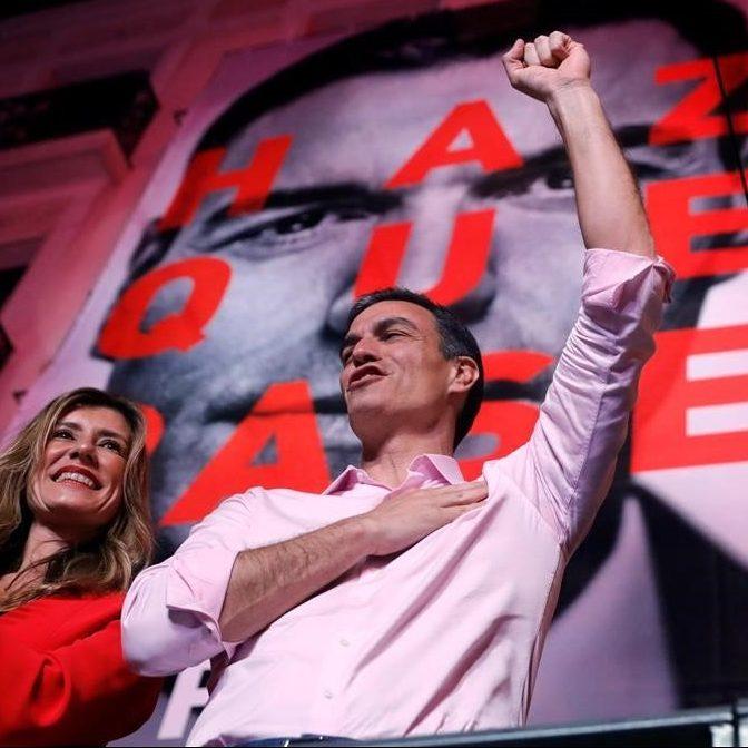 PSOE gana elecciones parlamentarias de España