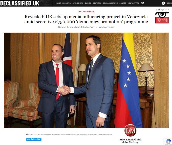 Venezuela entregó nota de protesta a Reino Unido por financiamiento ilegal de medios