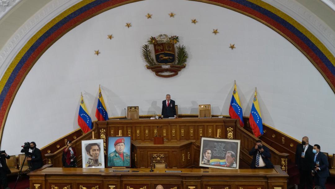 Bolívar y Chávez retornan a la Asamblea Nacional junto a diputados y diputadas del pueblo