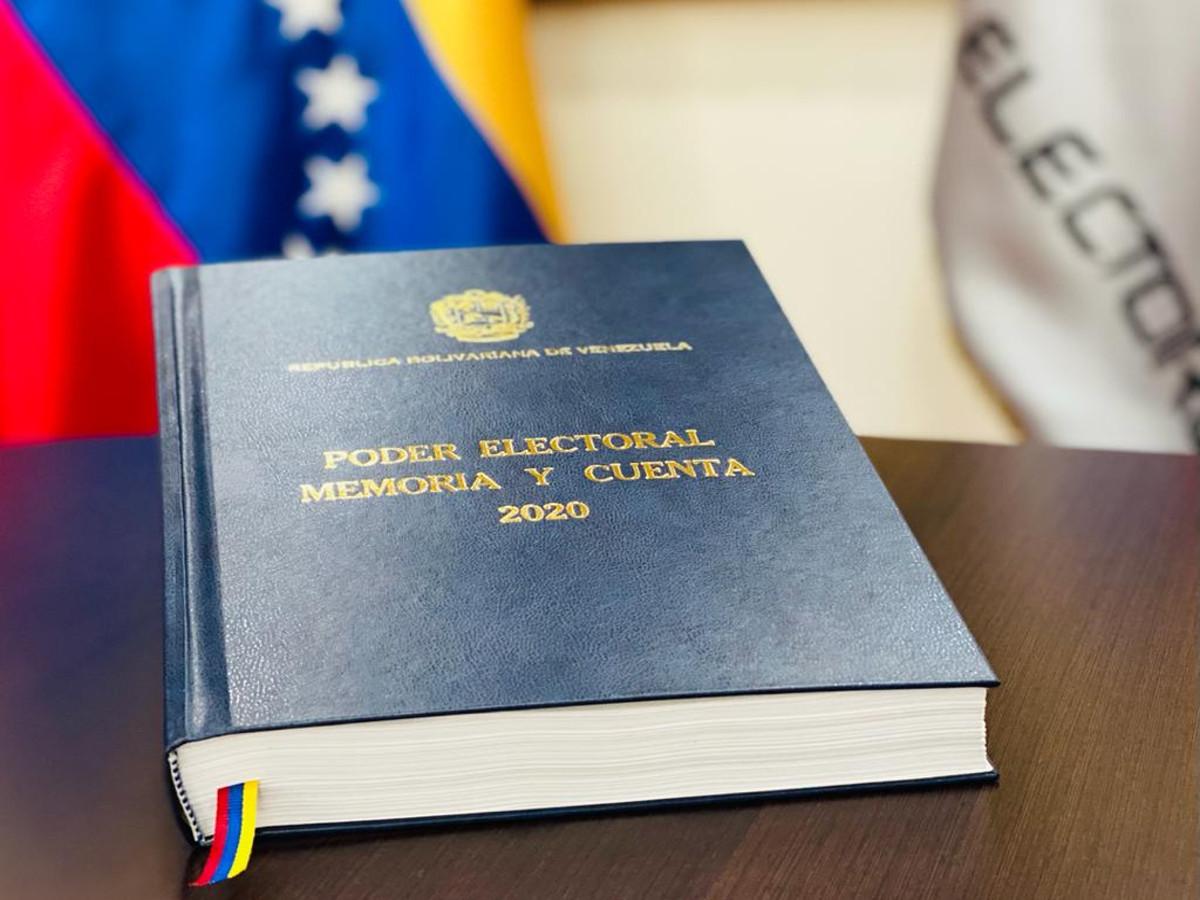 Poder Electoral entrega ante la Asamblea Nacional Memoria y Cuenta 2020