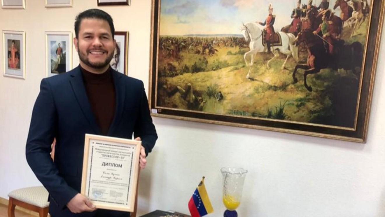 Ingeniero venezolano premiado en Belarús en el Concurso Internacional «Profesor-33»