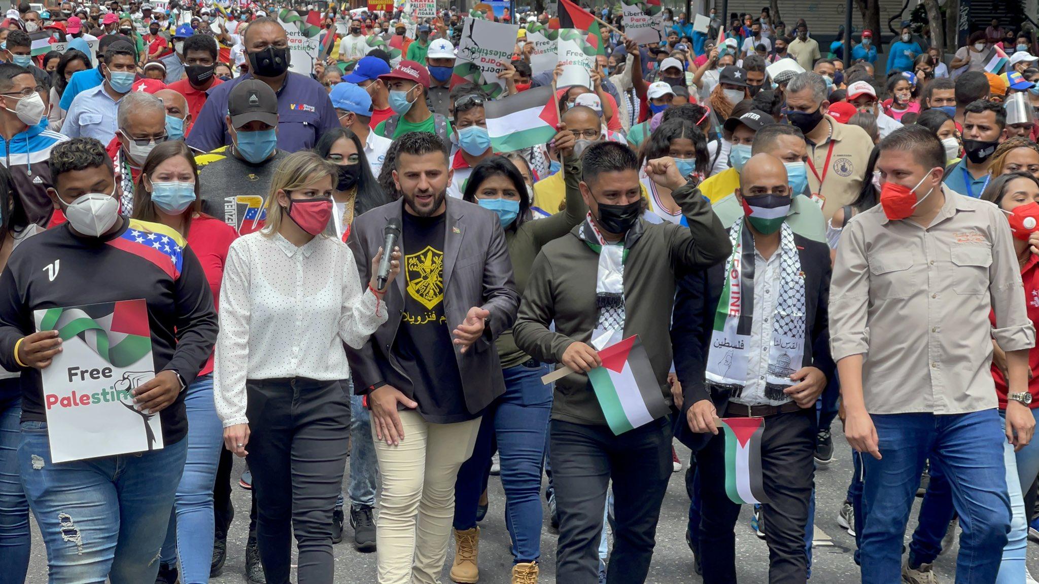 Parlamento venezolano marcha en solidaridad con Palestina