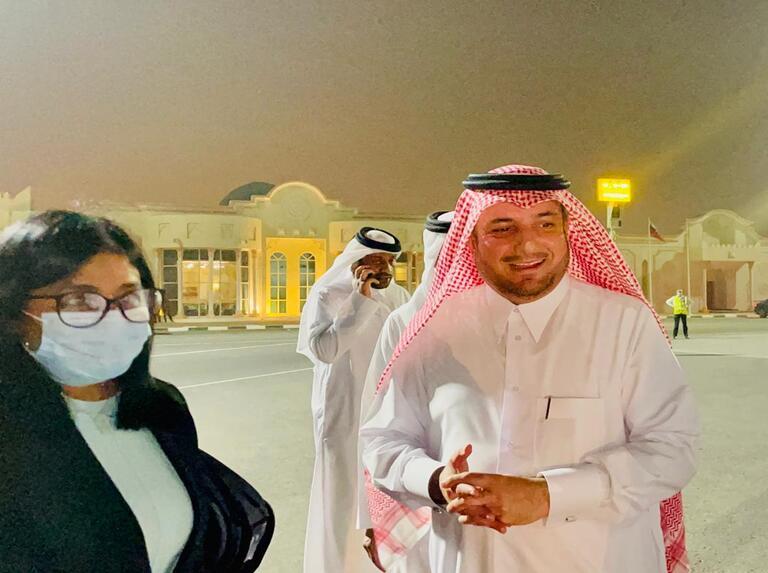 Vicepresidenta ejecutiva arriba a Qatar para fortalecer relación bilateral