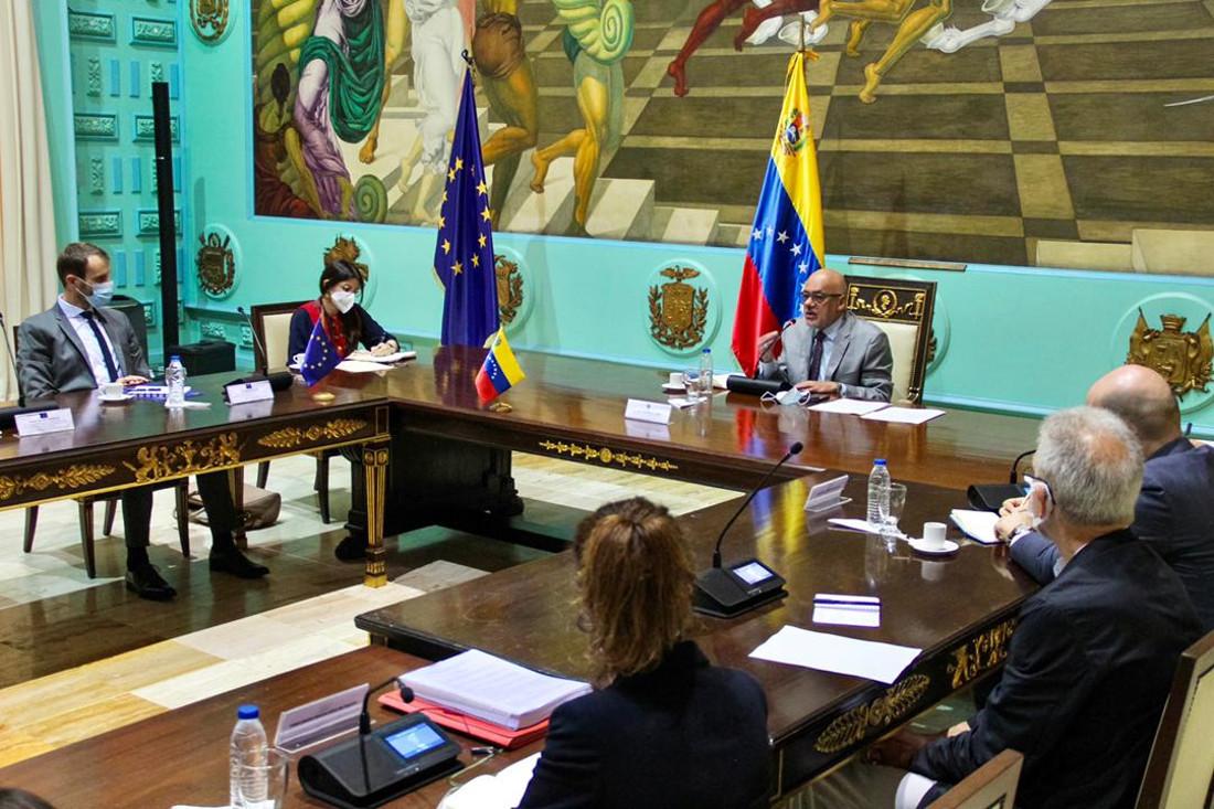 Presidente de la AN se reúne con misión de exploración electoral de la UE