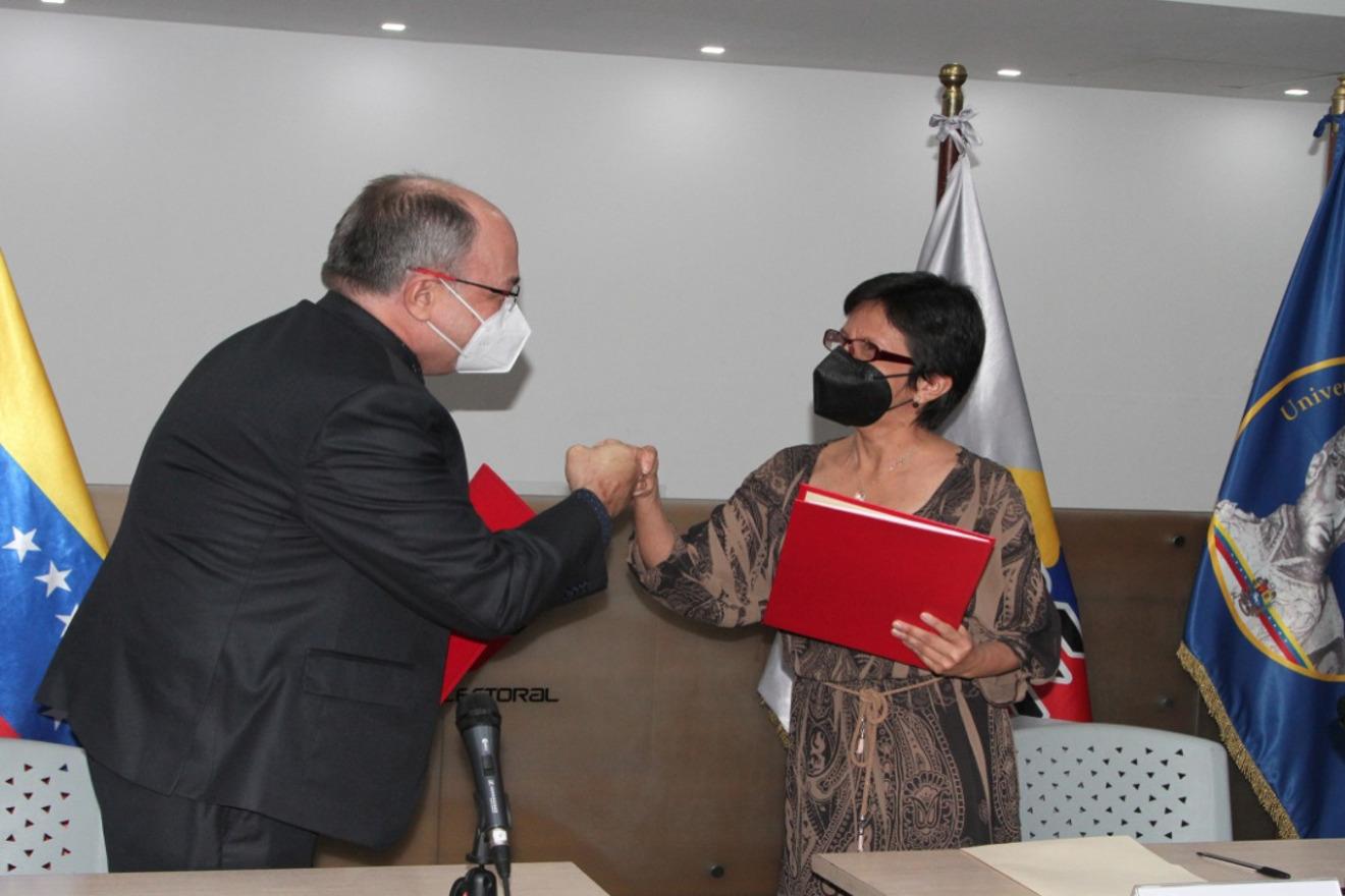 CNE y UBV firman convenio de cooperación interinstitucional
